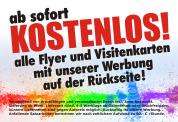 Flyer kostenlos, Visitenkarten kostenlos